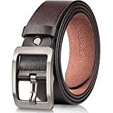 OVEYNERSIN Men Belt Leather casual Dress Belts Big Metal Buckle Adjustable Size designer Fashion Gifts
