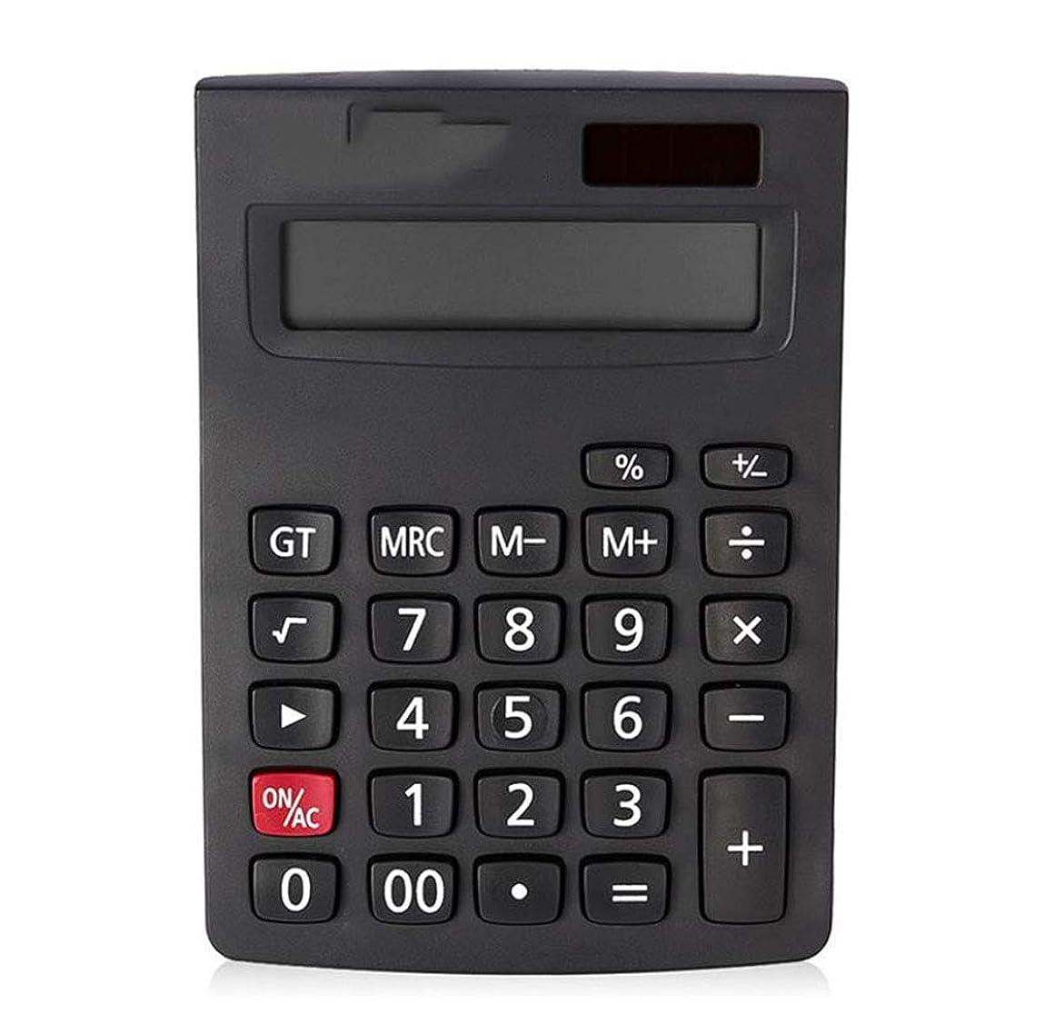 広がり平等サイバースペース電卓 デスクトップ電卓 デュアル電源 12桁 大型ディスプレイ プラスチックボタン 自動シャットダウン 5pcs