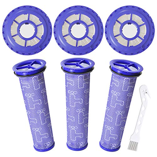 Mochenli 3 Pack Hepa Post Filter & 3 Pack Pre Filter Replacement Vacuum Filter for Dyson DC41 DC65 DC66 UP13 UP20 Animal, Multi Floor and Ball Vacuums. Replaces Part 920769-01 & 920640-01.