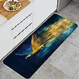Alfombra de Cocina, Amantes de los Animales Parrot de Plumas Azul...