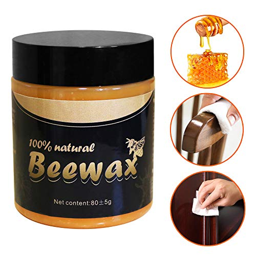 Wood Seasoning Beewax, Natural Traditional Beeswax Polish Wood Furniture Cleaner for Wood Doors, Tables, Chairs, Cabinets and Floors for Furniture to Beautify & Protect