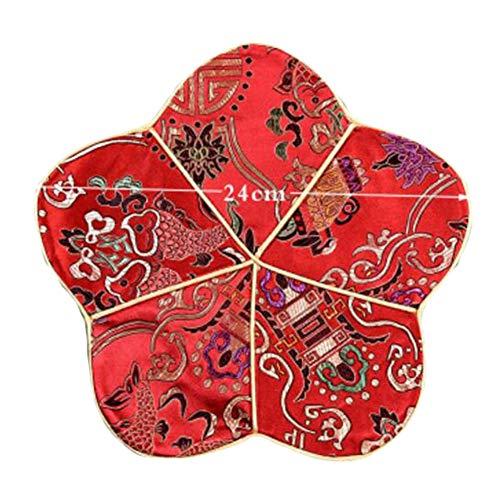 Goddness Bar Tapis de Plateau de thé en Tissu décoratif Coaster Retro Pad Tapis (Style 01)