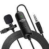 SYNCO Lav-S6E Lavalier-Microfono-Solapa-Corbata-Condensador Omnidireccional 6M, Clip Microphone Compatible para DSLR Cámaras Reflex, Móviles,...