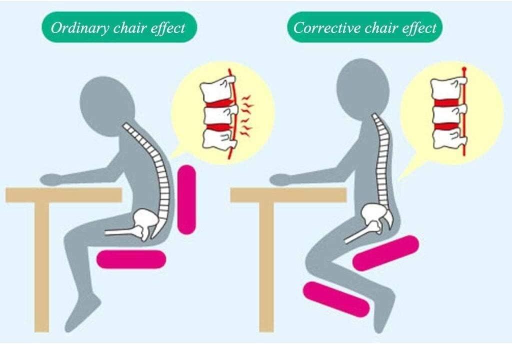 YAMMY Chaises à Genoux Chaise de Bureau Chaise d'ordinateur Artisanat de Couture Multifonctionnel Anti-lâche Réglage Manuel des maux de Dos (Couleur: B) C