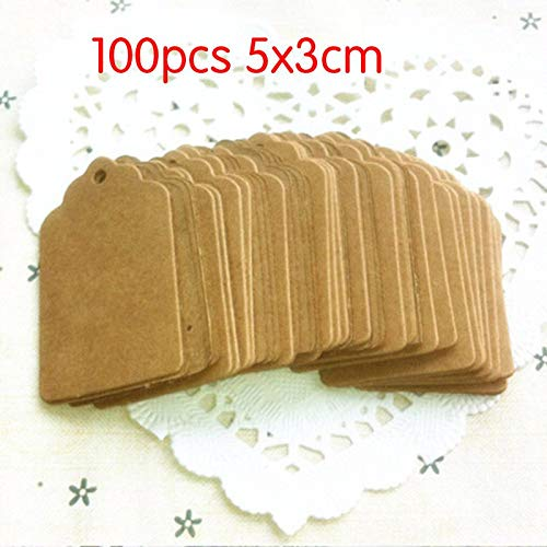 Party DIY Decoraties - 50 100 stks Papier Tag DIY Kraft Liefde Etiketten Kaart Hang Bruiloft Party Note Blank Gift Wrapping - Partij Decoraties Party Decoraties Papier Wrap Blank Sticker Doek Gift Han 100pcs