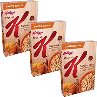 Special K Pumpkin Spice, Breakfast Cereal, Limited Edition by Kellogg's 12.9 oz Box (Pack of 3)
