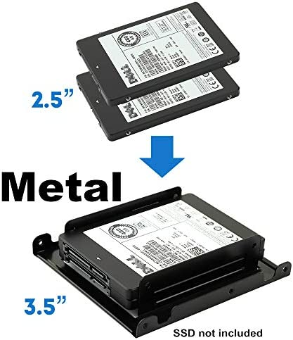 Dual 2 5 to 3 5 HDD SSD Converter Bracket Converts 2 5 Notebook Hard Drive to 3 5 Desktop Hard product image