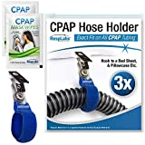 RespLabs CPAP Hose Holder, Hanger — The Original CPAP Hose Holder & Tube Clips [3 Pack]