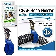 RespLabs CPAP Hose Holder, Hanger — The Original CPAP Hose Holder & Tube Clips [3 Pack]