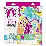 Tulip One-Step Tie-Dye Kit Fast & Easy Fabric Designs 2 Minute Tie Dye, 4...