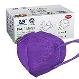 Conexiones CTC FFP2 / KN95 Mascarilla protectora de 5 capas, certificado CE, (20 piezas / caja, cada uno en paquete individual) (Morado)