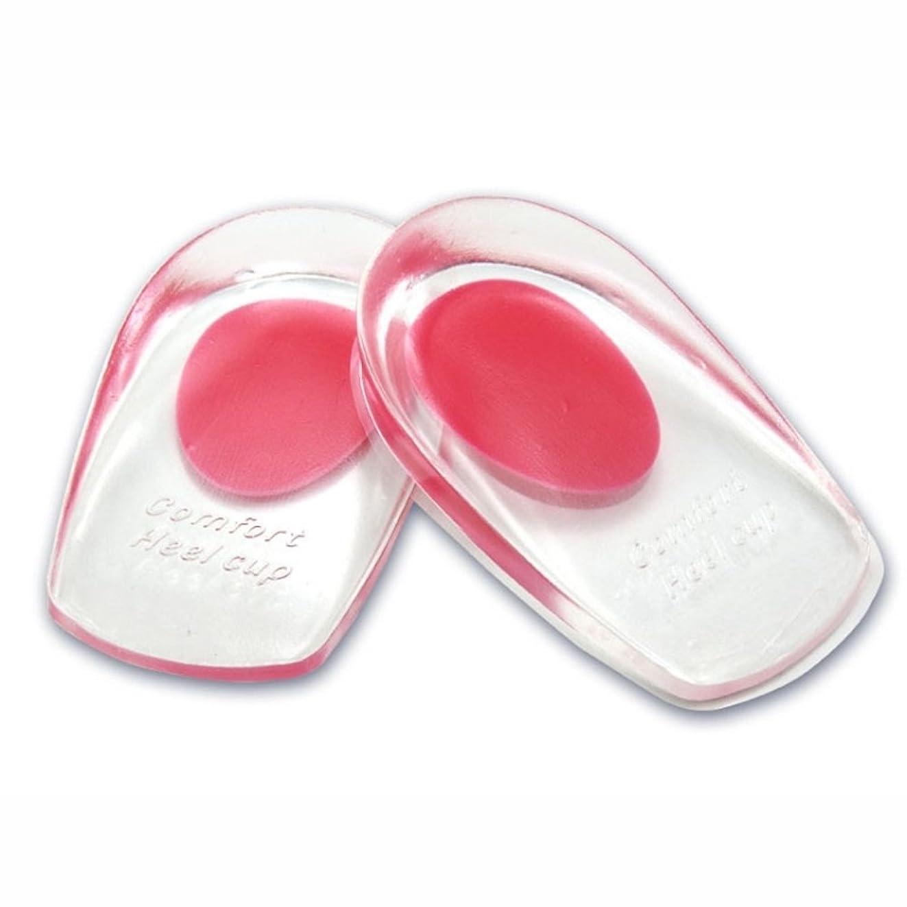 ご近所枝真鍮シリコンヒールカップ かかとの痛み防止に ソフトシリコン製 インソールクッション 衝撃緩和 立体形状 フィット感抜群 FMTMXCA2S (レッド(靴サイズ22~26cm用))
