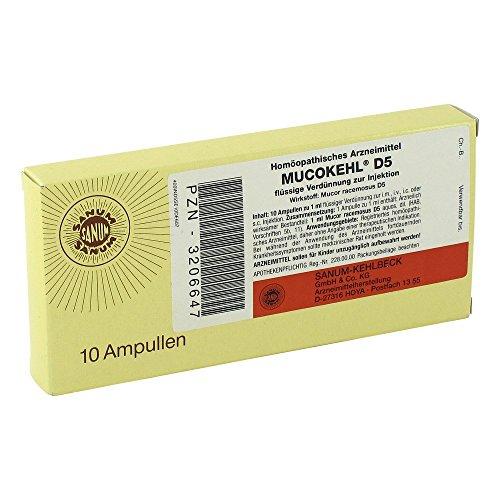 MUCOKEHL Ampullen D 5 10X1 ml