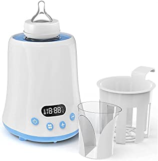 گرم کننده بطری ، گرم کننده بطری کودک ، گرم کننده سریع شیر مادر با تایمر ، بخاری غذای کودک با نمایشگر LCD ، کنترل دقیق دما ، حالت ثابت ، مناسب برای همه بطری های کودک