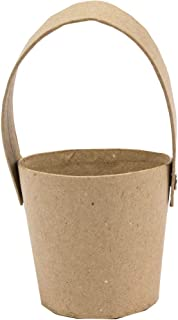 Round Paper Mache Basket With Handle 8cm One Size