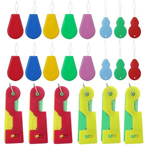 nuoshen 50Pcs Enfile Aiguille, Enfile Aiguille Couture Main Plastic 3 Formes Différentes pour Couture à la Main, Fil, Broderie, Point de Croix(10Pcs+ 20Pcs +20Pcs)