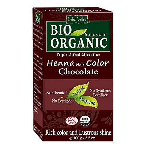 Indus Valley BIO Organic Schokoladen Henna Haarfarbe - 100% rein und natürlich
