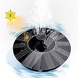 Solar Bird Bath Fountain Pump, Solar Powered Bionic Water Fountains Pump with 8 Nozzles, Floating Fountain Pump for Birdbath, Pond, Pool, Fish Tank, Aquarium and Garden