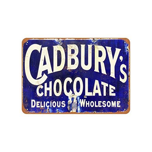43LenaJon Cadbury's chocolade vintage look metalen bord