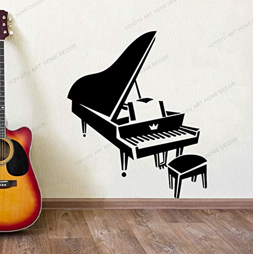 wopiaol Wanddekoration Klavier Klassische Retro-Musik VinylRemovable Decal Art Vinyl Wandbild Home Room Decor