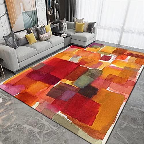Decorazioni Camera rosso tappeto salone moderno Tappeto da salone a pelo corto in stile astratto splash inchiostro artistico tappeto salotto pelo corto 50X80CM
