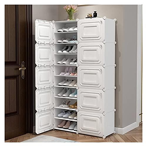 estantería para Zapatos Estante de zapatos Zapato de zapatos Múltiples platos portátiles, armario modular de plástico, organizador de almacenamiento de cubos for ropa de colgar, gabinete modular for r