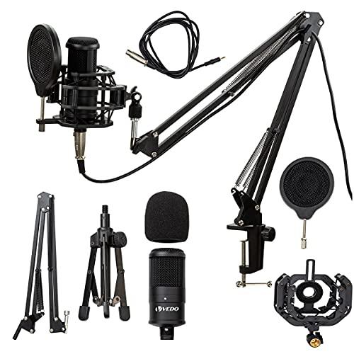 Microfone Estúdio Bm800 + Aranha de metal + Braço + Pop Filter