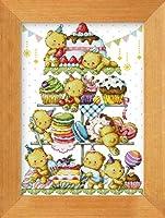 クロスステッチ刺繍キット DMC刺繍糸 ケーキ塔 KK6144