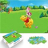 Puzzle 1000 Piezas Winnie The Pooh Póster de animación Puzzle Dificultades y desafíos Personajes de Dibujos Animados Película Puzzle de Madera Dificultades y desafíos 50x75cm