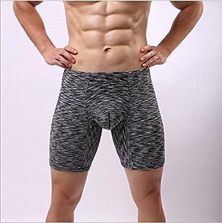 LnLyin - Pantalones Cortos para Hombre, Spandex, Color Negro, L