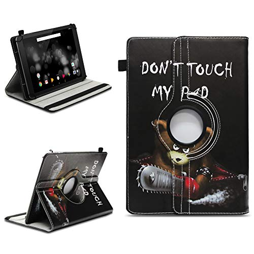 NAmobile Schutzhülle kompatibel für TrekStor Primetab P10 Tablet Hülle Tasche Hülle Cover 360 Drehbar, Farben:Motiv 12