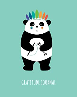 Gratitude Journal: Cute Giant Panda, Daily Gratitude Journal For Kids To Write And Draw In. For Confidence, Fun, Inspiration And Happiness (Children's Notebook, Feathers Diary)
