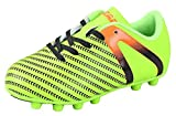 Vizari Youth/Jr Impact FG Soccer Cleats | Soccer Cleats Boys | Kids Soccer Cleats | Outoor Soccer Shoes | Impact Green/Orange 9.5