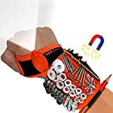 Magnetic Wristband with Flashlight and Tape Measure – Screw, Drill Bit, and Nail Holder with 20 Strong Magnet Pieces Increases Convenience for DIY-ers, Carpenters, Mechanics, and More by MEBTOOLS