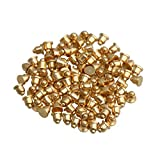 2mm Overall Length Spring Loaded Contact Testing Current Pogo Pin Connector 0.5mm Needle Head Length Pack of 100 Color Gold