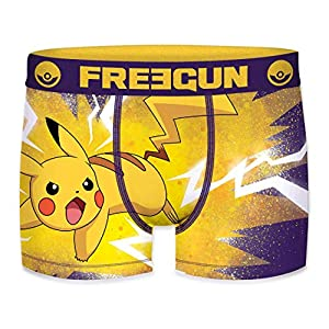 FREEGUN Boxer unitario Infantil Pokemon Talla 12/14 para Niños