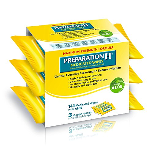 Preparation H Medicated Wipes, 144 Count
