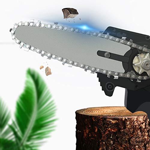 PHLPS Mini Motosierra de 4 Pulgadas, Motosierra inalámbrica, con batería Recargable, cizallas portátiles de poda de poda, para Rama de árbol de Corte de Madera