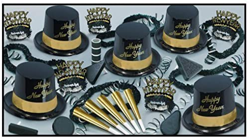 Gold Legacy Legend Schwarz& Gold & silber New Year 's Party Sortiment Kit for 100 silber Schwarz