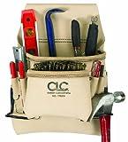 CLC Custom Leathercraft 178234 Carpenter's Nail and Tool Bag Reversed Top Grain, 8-Pocket