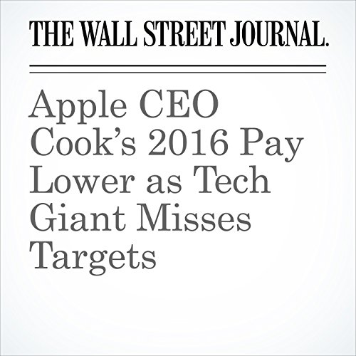 Apple CEO Cook's 2016 Pay Lower as Tech Giant Misses Targets copertina