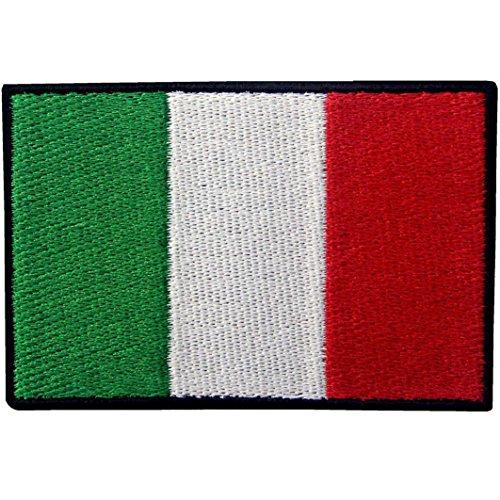 Italien Flagge Italienisch Nationales Emblem Bestickter Aufnäher zum Aufbügeln/Annähen
