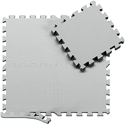 Schutzmatten Set Puzzlematte Bodenschutz Matte - 18 Puzzle Bodenschutzmatten Unterlegmatte | Fitnessmatte Turnmatte...