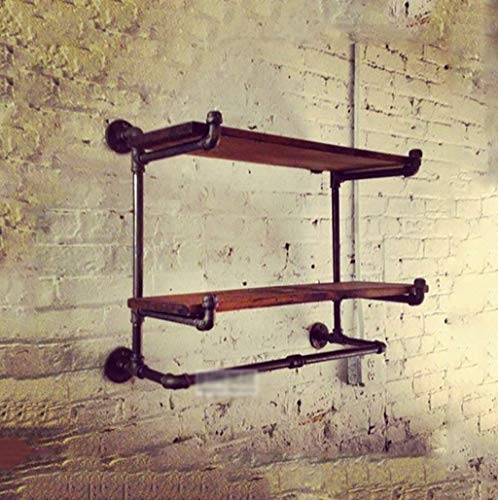 KONGZIR Coat Rack Retro Multifunctional wallmounted Iron Pipe wroughtiron Hanger Living Room Bedroom Fashion Wall Hanger Personality Industrial Wind Pipe Clothing Display Stand