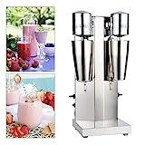 Electric Milkshake Maker Machine, 180W Dual Head Stainless Steel Smoothie Milkshake Mixer Malt Blender Machine for Commercial and Home Use