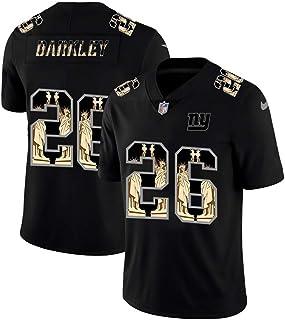 Saquon Barkley 26# New York Giants American Football Trikot, Rugby Trikot Sport Kurzarm T-Shirt V-Ausschnitt Stickerei Training Sweatshirt