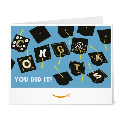 Amazon Gift Card - Print - Graduation Caps