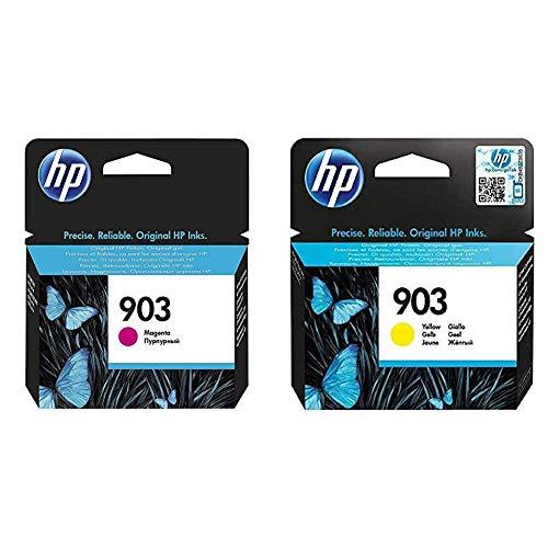 HP 903 T6L91AE, Magenta, Cartucho de Tinta Original, compatible con impresoras de inyección de tinta OfficeJet 6950, 6951; OfficeJet Pro 6960, 6970 + T6L95AE - Cartucho de tinta