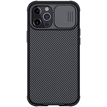 """Nillkin Case for Apple iPhone 12 Pro Max (6.7"""" Inch) CamShield Pro Camera Close & Open Double Layered Protection TPU + PC Black Color"""