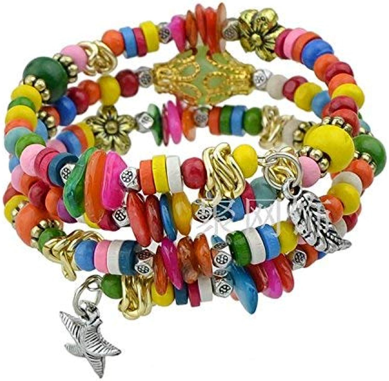 Zicue Stylish Charming Bracelet Exquisite Ornaments Fashion bracelet Jewelry color Multilayers Beads Wood Women Bracelets ( color   color )